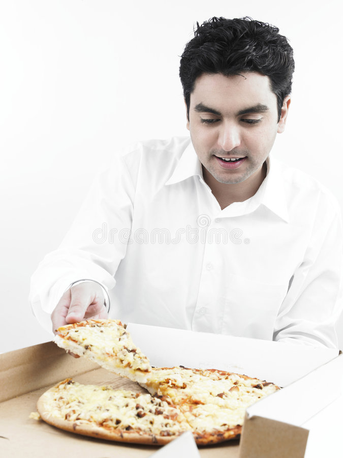 ασιατική πίτσα ατόμων κατα&nu στοκ φωτογραφία με δικαίωμα ελεύθερης χρήσης