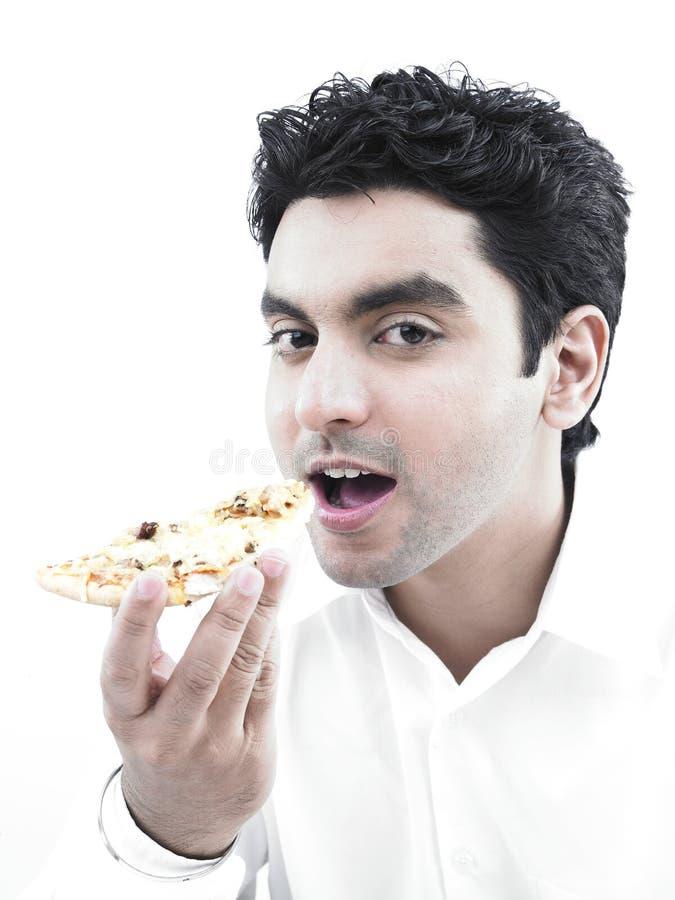 ασιατική πίτσα ατόμων κατα&nu στοκ εικόνα