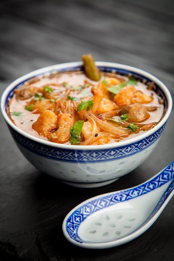 ασιατική σούπα γαρίδων στοκ φωτογραφίες