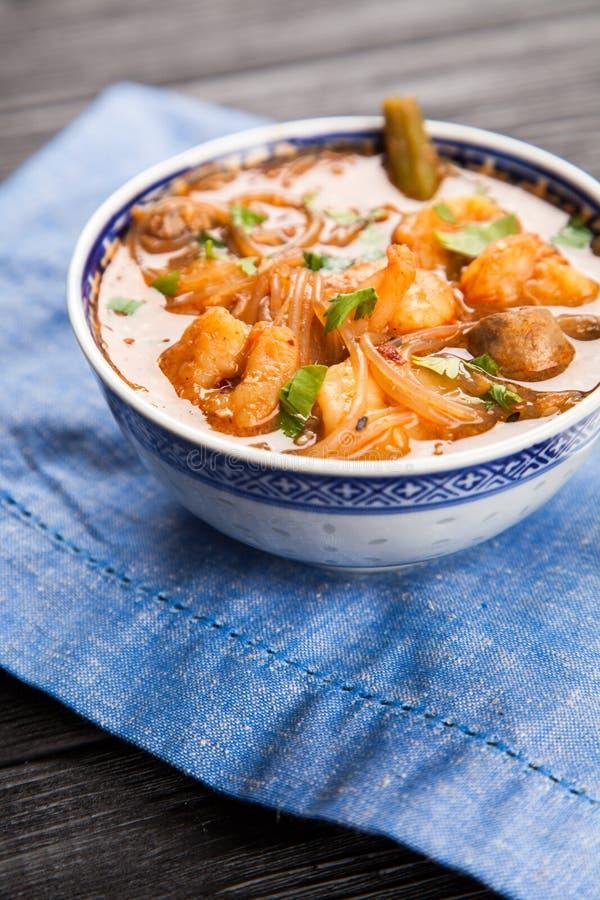 ασιατική σούπα γαρίδων στοκ φωτογραφία με δικαίωμα ελεύθερης χρήσης