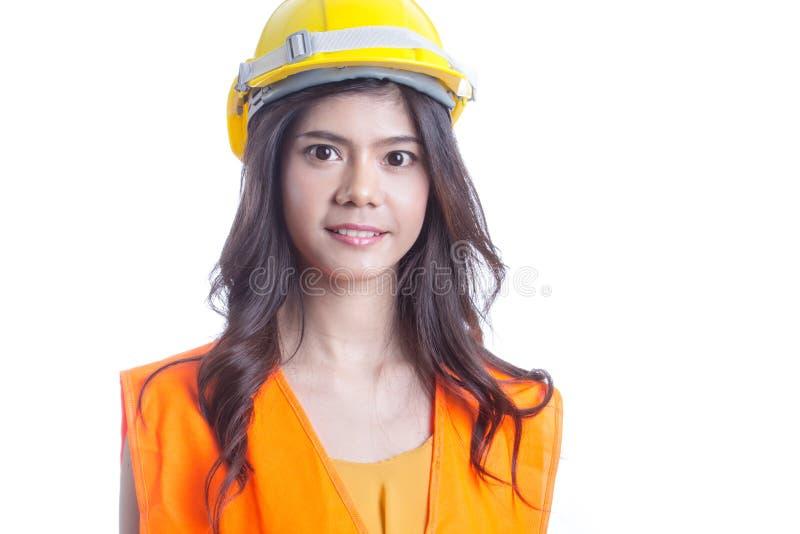 Ασιατική στάση μηχανικών γυναικών στοκ εικόνα με δικαίωμα ελεύθερης χρήσης