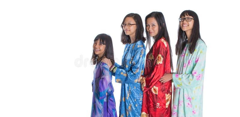 Ασιατική της Μαλαισίας μητέρα με τις κόρες ΙΙΙ στοκ φωτογραφία με δικαίωμα ελεύθερης χρήσης