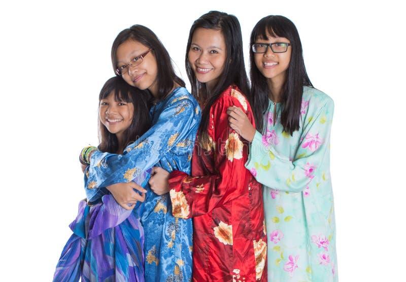 Ασιατική της Μαλαισίας μητέρα με τις κόρες ΙΙ στοκ εικόνα με δικαίωμα ελεύθερης χρήσης