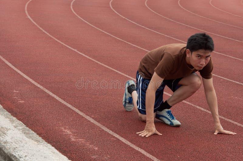 ασιατική τρέχοντας διαδρ& στοκ εικόνες