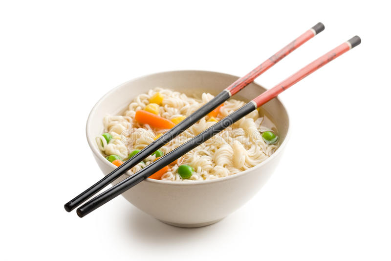 ασιατική noodle σούπα στοκ εικόνα