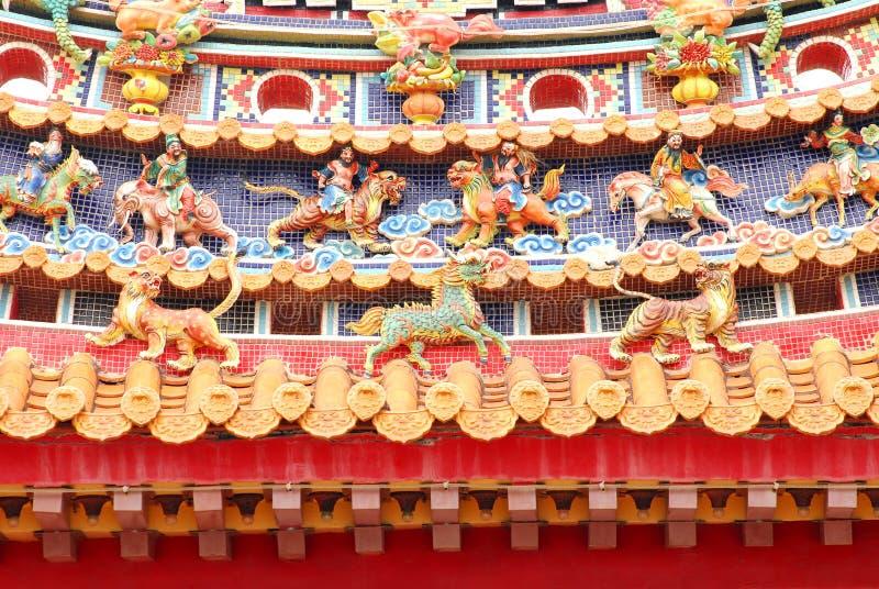 ασιατικός ναός διακοσμή&sigma στοκ φωτογραφία