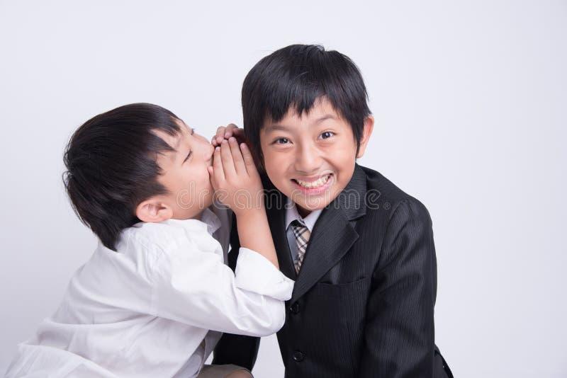 Ασιατικός προϊστάμενος προσωπικού αγοριών στοκ εικόνες με δικαίωμα ελεύθερης χρήσης