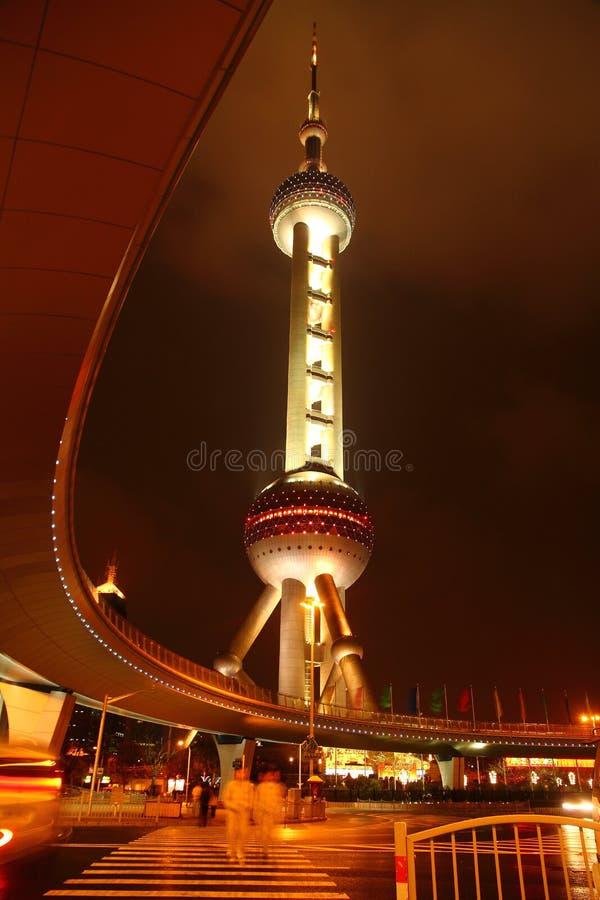 Ασιατικός πύργος μαργαριταριών, Σαγγάη, Κίνα στοκ φωτογραφία με δικαίωμα ελεύθερης χρήσης
