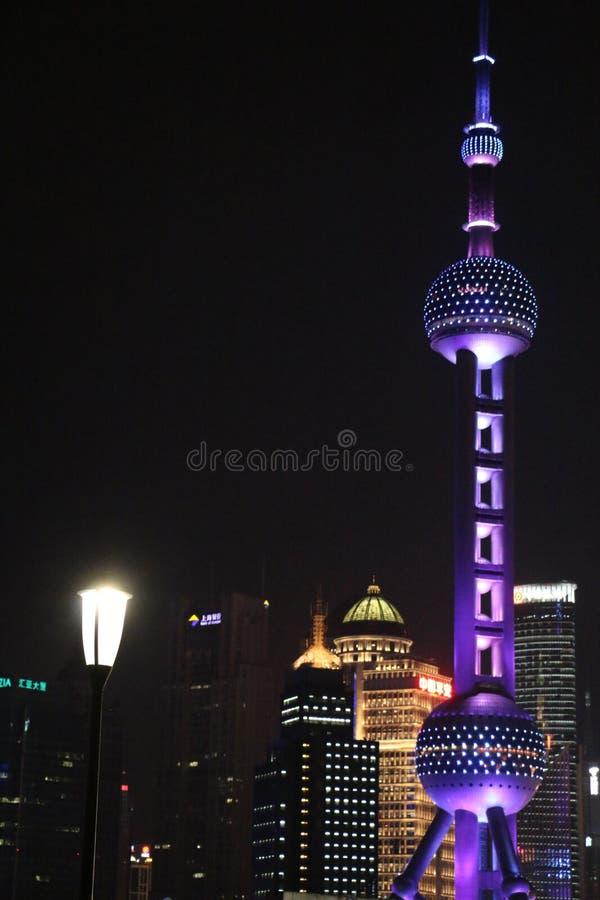 Ασιατικός πύργος μαργαριταριών στη Σαγκάη Κίνα στοκ φωτογραφία με δικαίωμα ελεύθερης χρήσης
