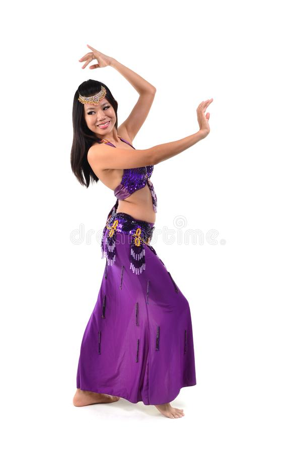 ασιατικός χορευτής κοιλιών στοκ εικόνα με δικαίωμα ελεύθερης χρήσης