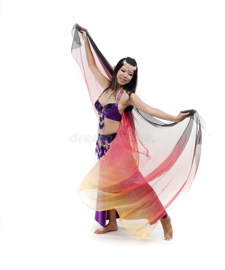 ασιατικός χορευτής κοιλιών στοκ εικόνα