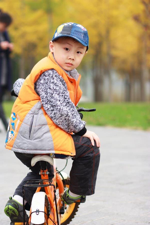 ασιατικό αγόρι φθινοπώρο&upsil στοκ εικόνα