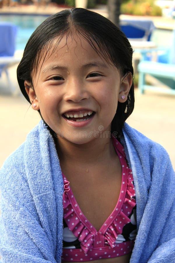 ασιατικό γέλιο κοριτσιών στοκ εικόνα