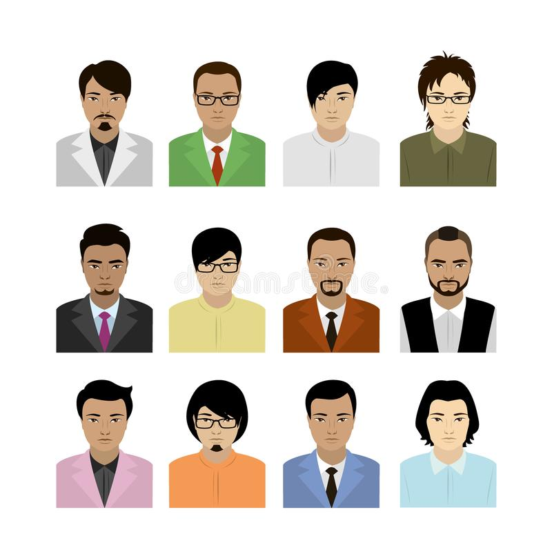 Ασιατικό είδωλο ατόμων διανυσματική απεικόνιση
