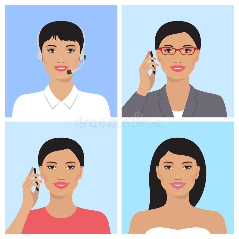 Ασιατικό είδωλο γυναικών διανυσματική απεικόνιση