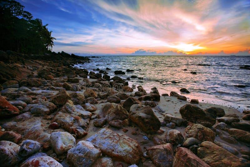ασιατικό ηλιοβασίλεμα στοκ φωτογραφία