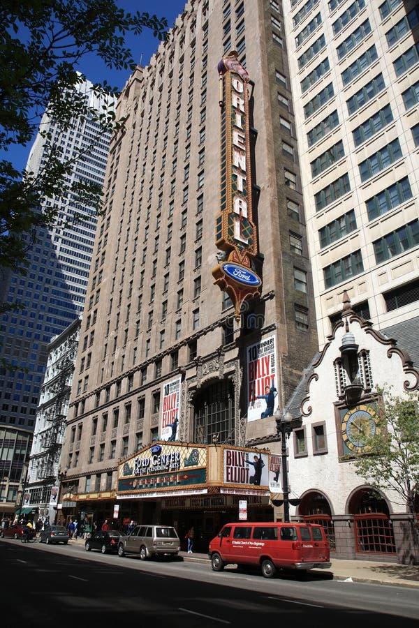 ασιατικό θέατρο του Σικάγου Ιλλινόις στοκ φωτογραφία με δικαίωμα ελεύθερης χρήσης