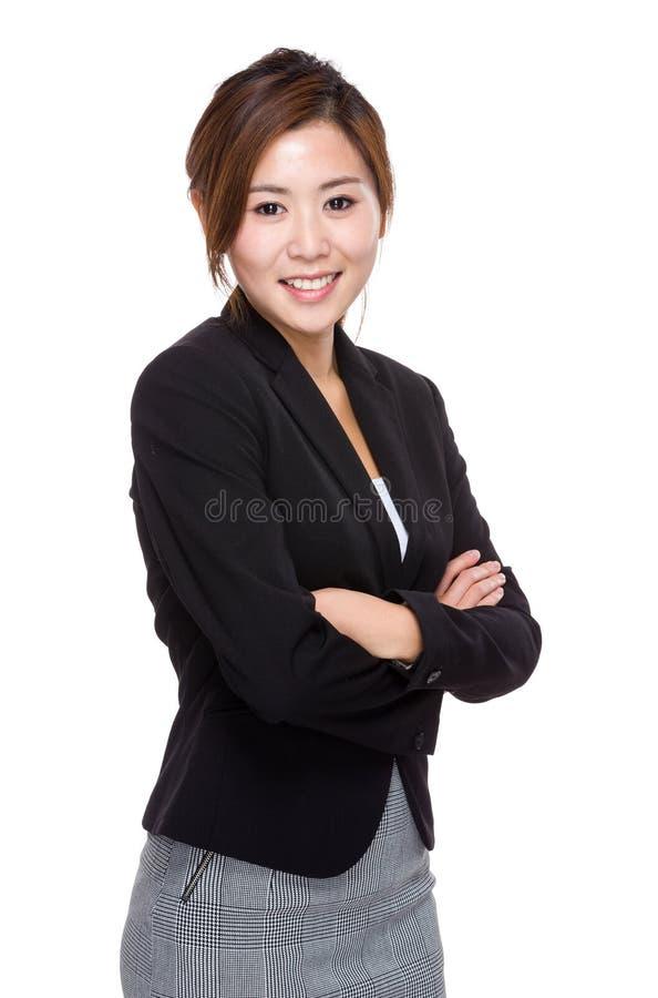 Ασιατικό θηλυκό crosshand στοκ φωτογραφία με δικαίωμα ελεύθερης χρήσης