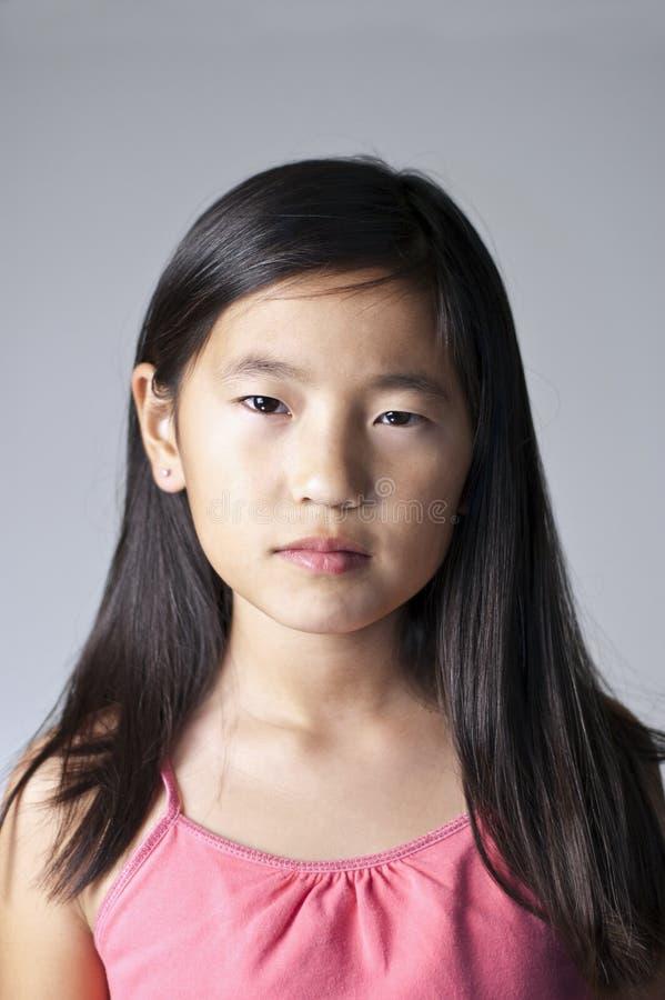 ασιατικό κορίτσι σοβαρό στοκ εικόνες με δικαίωμα ελεύθερης χρήσης