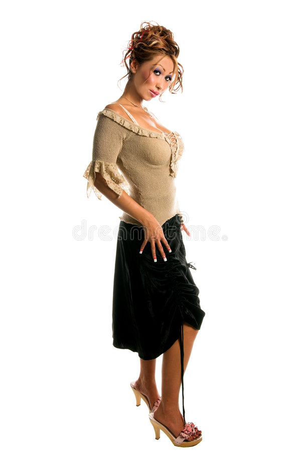 ασιατικό μοντέλο μόδας στοκ φωτογραφία