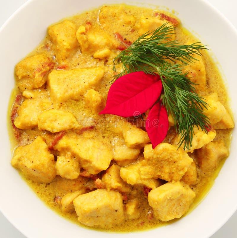 Ασιατικό πιάτο κοτόπουλου κάρρυ στοκ φωτογραφίες με δικαίωμα ελεύθερης χρήσης