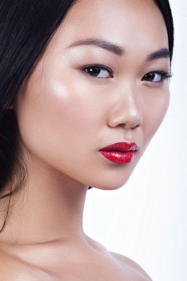 Ασιατικό πρότυπο πορτρέτο γοητείας ομορφιάς όμορφες νεολαίες γυναικών στοκ φωτογραφία με δικαίωμα ελεύθερης χρήσης
