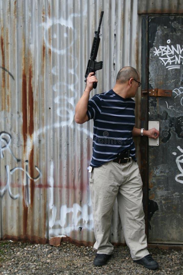 ασιατικό πυροβόλο όπλο στοκ φωτογραφίες
