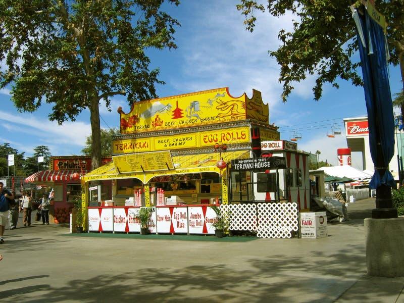 Ασιατικό σπίτι τροφίμων ύφους, έκθεση της Κομητείας του Λος Άντζελες, Pomona Fairplex, Καλιφόρνια, ΗΠΑ στοκ φωτογραφία με δικαίωμα ελεύθερης χρήσης