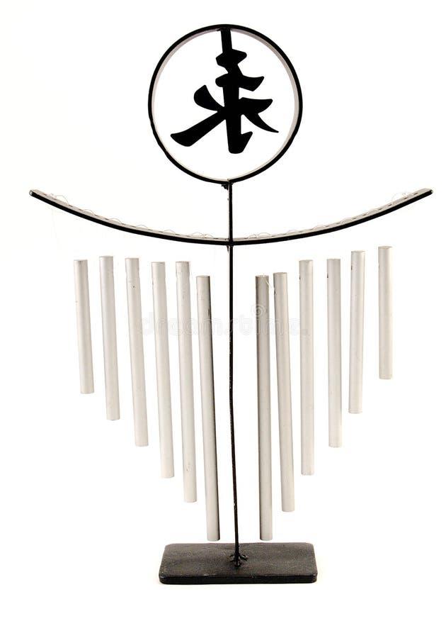 ασιατικό σύμβολο Windchime Στοκ εικόνα με δικαίωμα ελεύθερης χρήσης