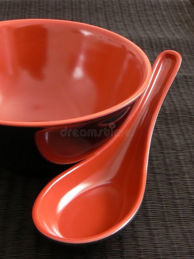 ασιατικό σύνολο πιάτων στοκ εικόνες