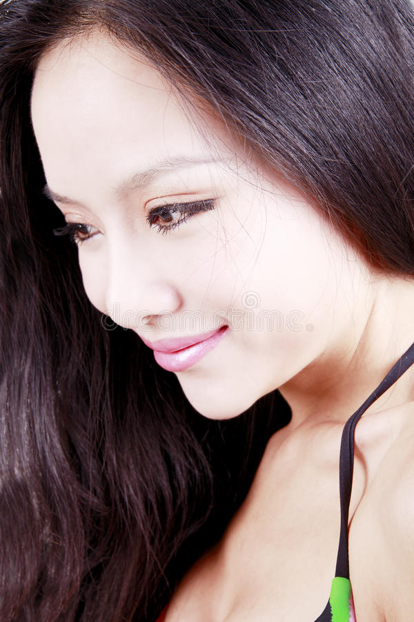 ασιατικό τρίχωμα κοριτσιώ&n στοκ φωτογραφίες