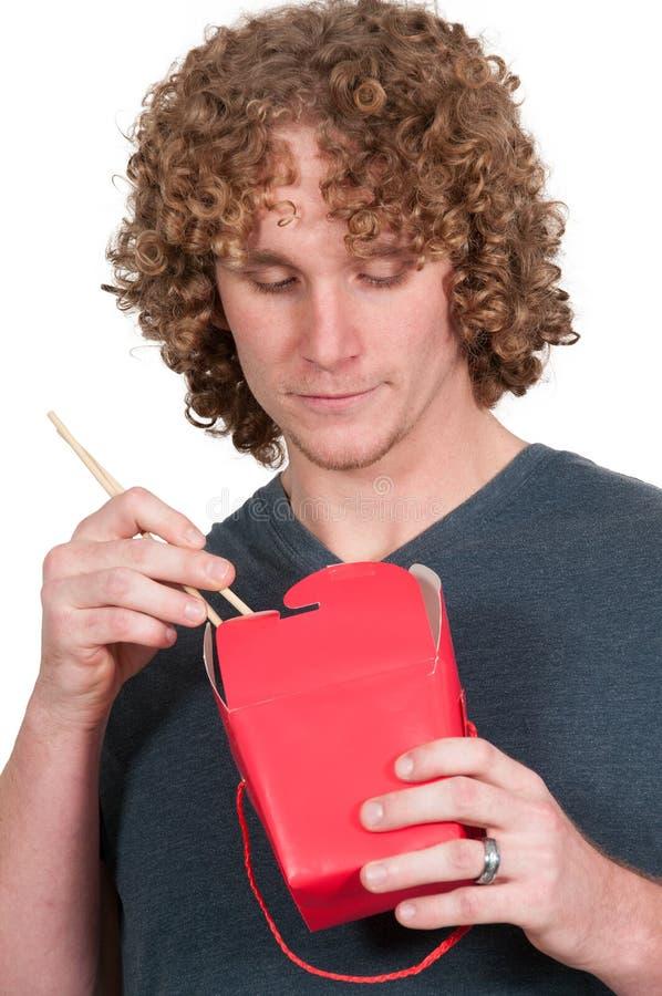 ασιατικό τρώγοντας άτομο τροφίμων στοκ φωτογραφία με δικαίωμα ελεύθερης χρήσης