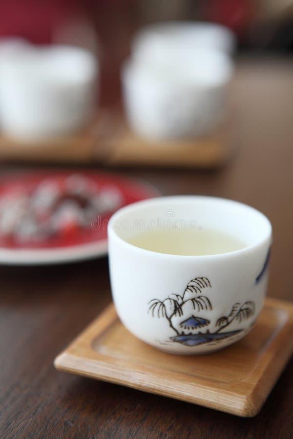 ασιατικό τσάι φλυτζανιών στοκ φωτογραφία