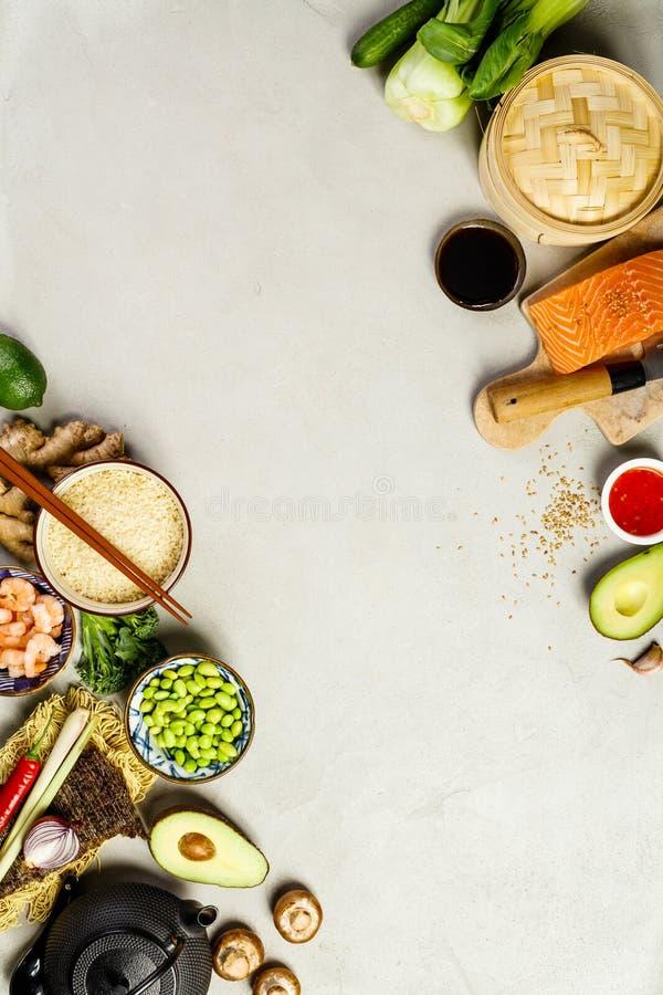 Ασιατικό υπόβαθρο τροφίμων στοκ φωτογραφία