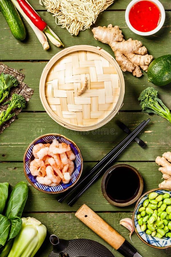Ασιατικό υπόβαθρο τροφίμων στοκ εικόνες