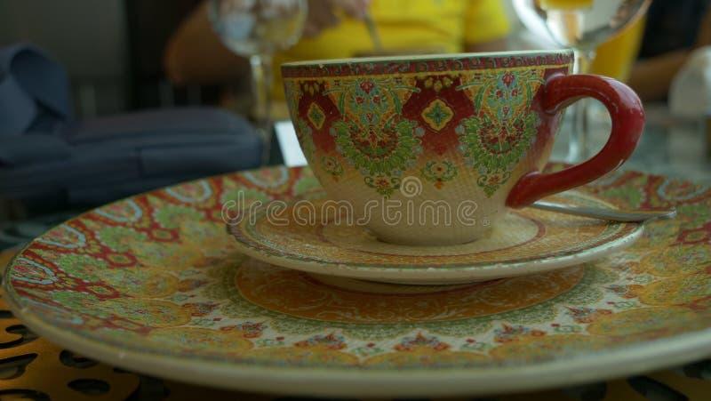 Ασιατικό φλυτζάνι Αραβικά καφέ στοκ εικόνα