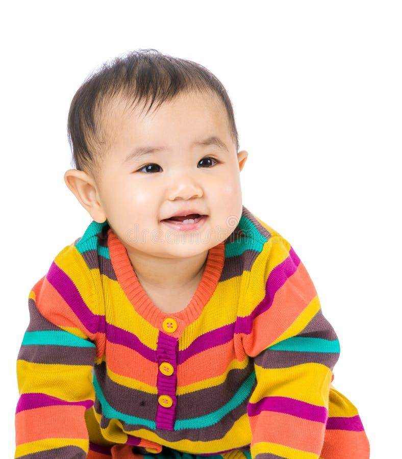 Ασιατικό χαμόγελο μωρών στοκ εικόνες