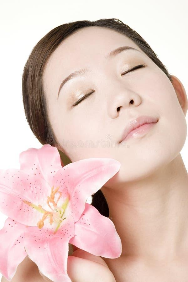 ασιατικό όμορφο δέρμα κορ&io στοκ φωτογραφίες