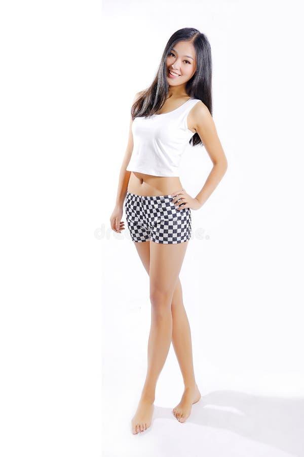 ασιατικό όμορφο κορίτσι στοκ εικόνα