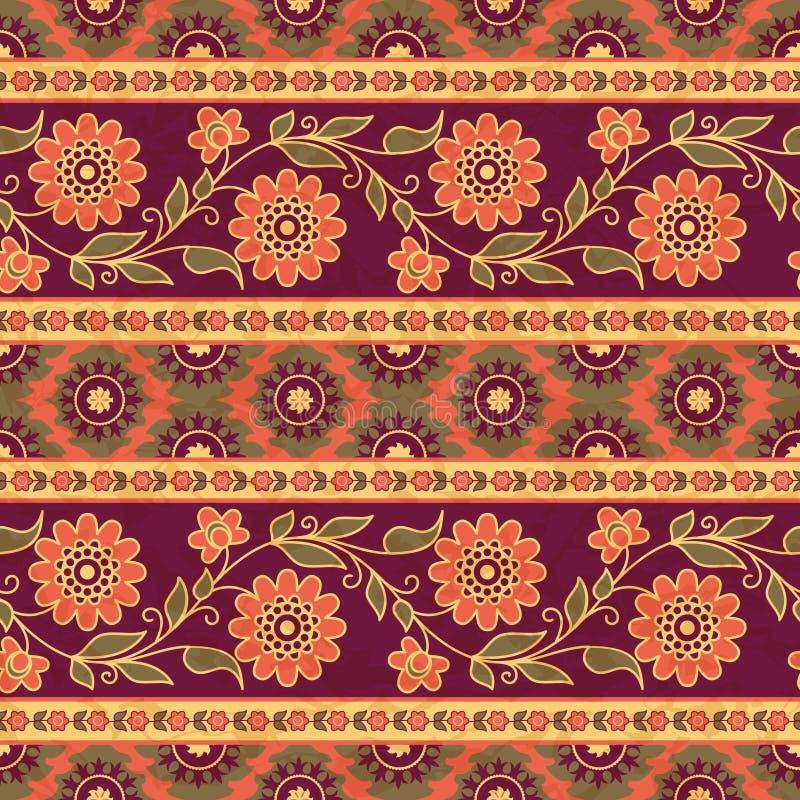 Ασιατικό floral σχέδιο ύφους απεικόνιση αποθεμάτων