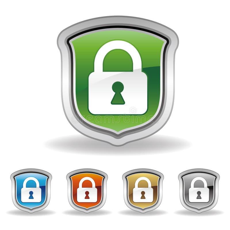 ασπίδα κλειδωμάτων εικ&omicron ελεύθερη απεικόνιση δικαιώματος