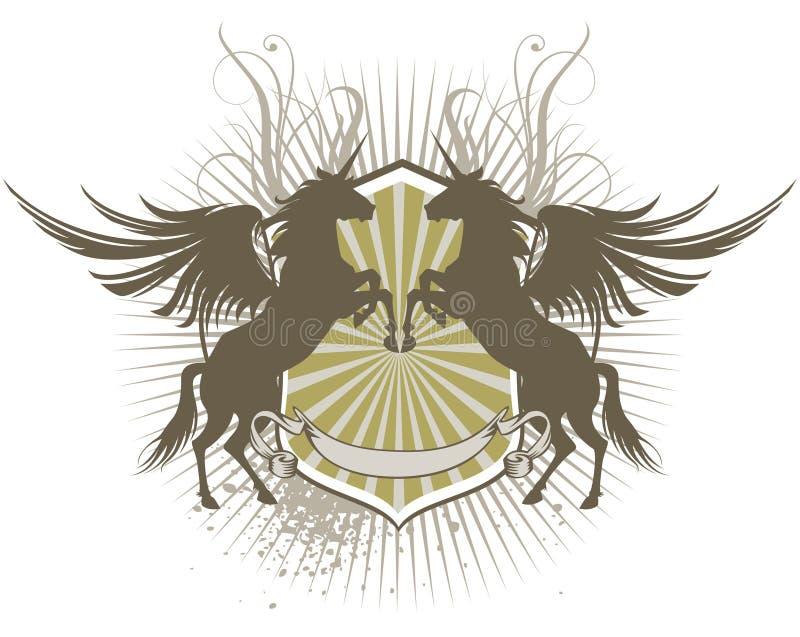 Ασπίδα Pegasus διανυσματική απεικόνιση