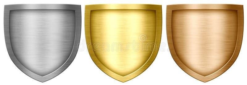 Ασπίδες μετάλλων ελεύθερη απεικόνιση δικαιώματος
