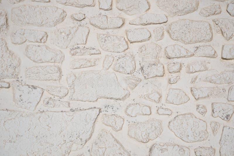 Ασπρισμένη σύσταση υποβάθρου τοίχων πετρών στοκ φωτογραφία με δικαίωμα ελεύθερης χρήσης
