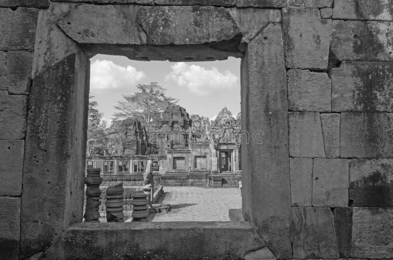 Ασπρόμαυρη εικόνα του κάστρου από ψαμμίτη στοκ φωτογραφία με δικαίωμα ελεύθερης χρήσης
