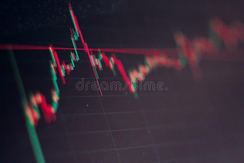 Αστάθεια της έννοιας cryptocurrency Διάγραμμα κεριών της ανόδου και της πτώσης των τιμών στο χρηματιστήριο απεικόνιση αποθεμάτων