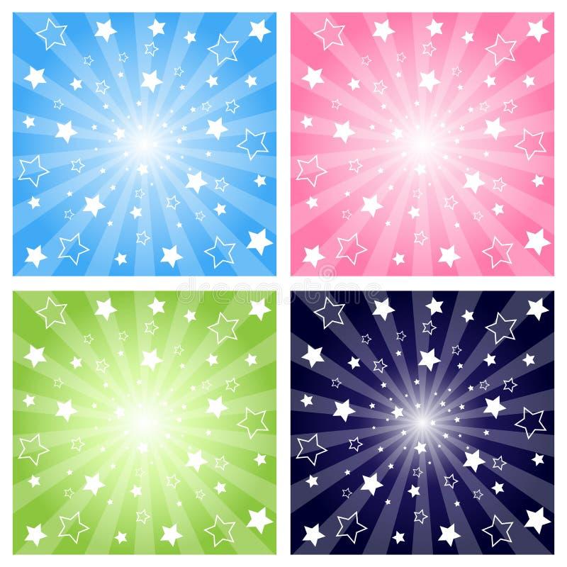 αστέρια έκρηξης ελεύθερη απεικόνιση δικαιώματος