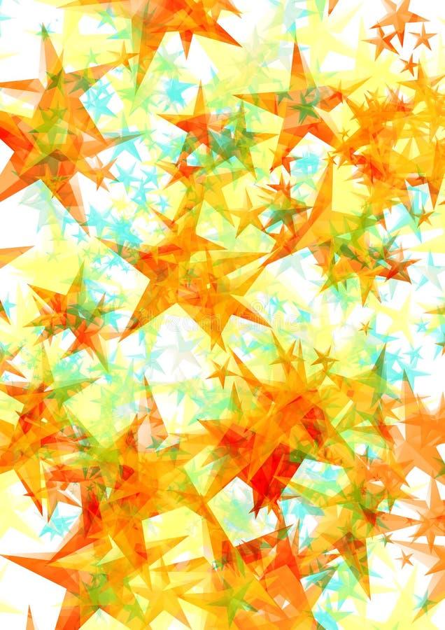 αστέρια ανασκόπησης διανυσματική απεικόνιση
