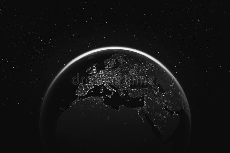 αστέρια γήινων πλήρη πλανητών ανασκόπησης ελεύθερη απεικόνιση δικαιώματος