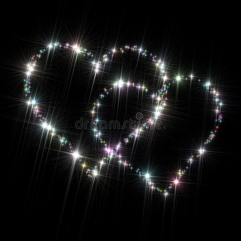 Αστέρια γοητείας καρδιών απεικόνιση αποθεμάτων